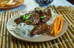 Honey Sriracha Mongolian Beef foto de archivo libre de regalías