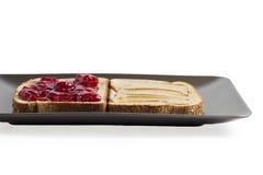 Honey and strawberry jam Stock Image