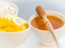 Honey and sugar Royalty Free Stock Image