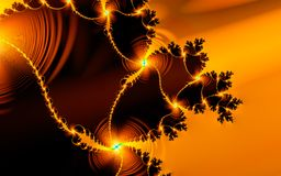 Honey Swirl Fractal. High-resolution - good detail at 100 royalty free illustration