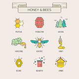 Honey Symbols Royaltyfria Bilder