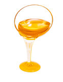 Honey or syrup sflow dropping isolated Royalty Free Stock Image