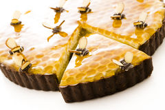 Honey tart Royalty Free Stock Images