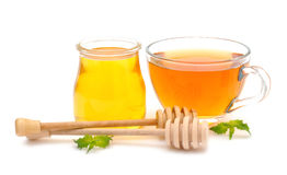 Honey and tea Royalty Free Stock Photos