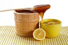 Honey and tea Stock Image