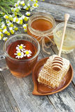 Honey and tea Royalty Free Stock Image