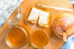 Honey and tea Stock Photos