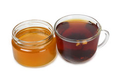 Honey and tea Royalty Free Stock Photo