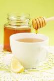 Honey tea with lemon. Healthy tea with honey and slice of lemon Stock Images