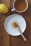 Honey with tea and lemon Stock Photography