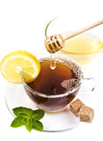 Honey tea with lemon Royalty Free Stock Image