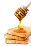 Honey on toast Royalty Free Stock Photography
