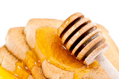 Honey on toast Royalty Free Stock Photo