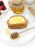 Honey on toast Stock Photos