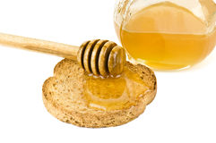 Honey with toast Stock Photo