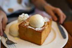 Honey Toast Royaltyfri Bild