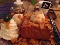 Honey Toast Stock Foto's