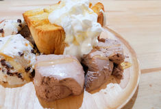 Honey toast bread Stock Photography