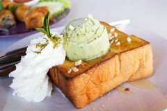 Honey toast  Royalty Free Stock Photos