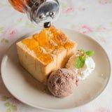 Honey Toast Ice Cream Imagens de Stock Royalty Free
