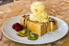 Honey toast Royalty Free Stock Images