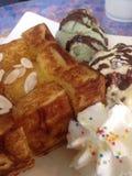 Honey Toast Ice-cream royalty free stock photography