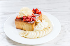 Honey toast Royalty Free Stock Photography