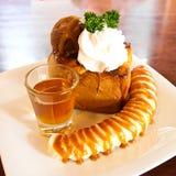 Honey toast Stock Photo