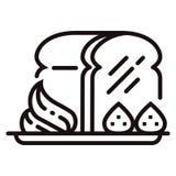 Honey toast Line illustration stock illustration