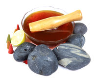 Honey treatment Stock Image