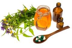 Honey treatment in folk medicine Royalty Free Stock Photography