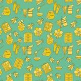 Honey vector seamless pattern Stock Image