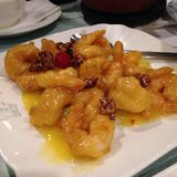 Honey Walnut Shrimp Stockbild