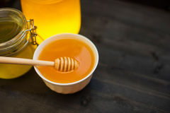 Honey with walnut Royalty Free Stock Images