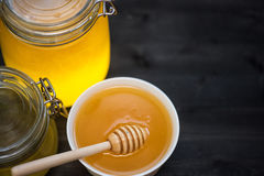Honey with walnut Royalty Free Stock Photo