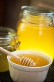 Honey with walnut Stock Photo
