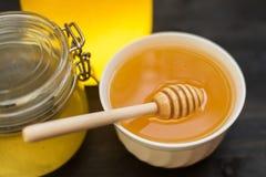 Honey with walnut Stock Image