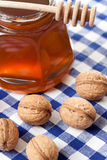 Honey and walnuts Royalty Free Stock Image