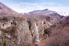 Honey waterfalls. Caucasus. Rocky Ridge Royalty Free Stock Image