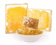 Honey  on white background Stock Photos