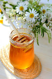 Honey and wildflowers Royalty Free Stock Photography