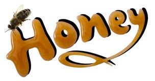 Honey word dessert royalty free stock photos