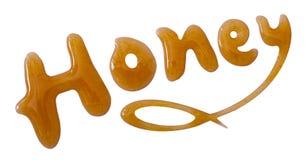 Honey word dessert Stock Image