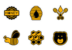 Honey yellow icons Royalty Free Stock Photos