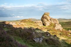 Honeybag tor Dartmoor Devon UK royaltyfri foto