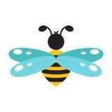 Honeybee cartoon icon isolated vector. Stock Images
