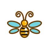Honeybee line icon isolated vector. Stock Photography