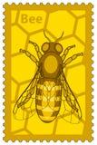Honeybee stamp Stock Photography