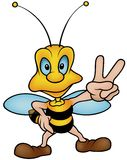 Honeybee Victory Royalty Free Stock Images