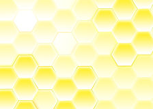 Honeycomb. Background with yellow honeycomb pattern Stock Photos